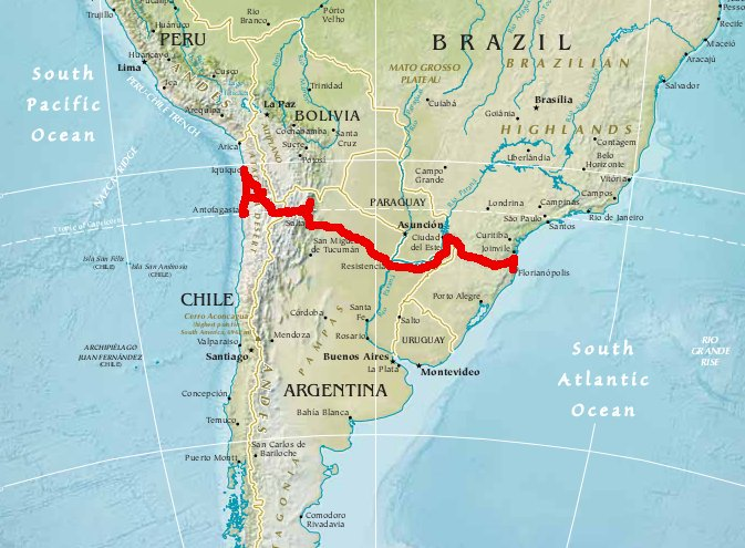 Chile-Argentinien-Brasilien 2014